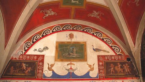 La Saletta Pompeiana at Villa Farnesina