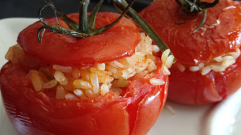 A summer classic: tomatoes with rice